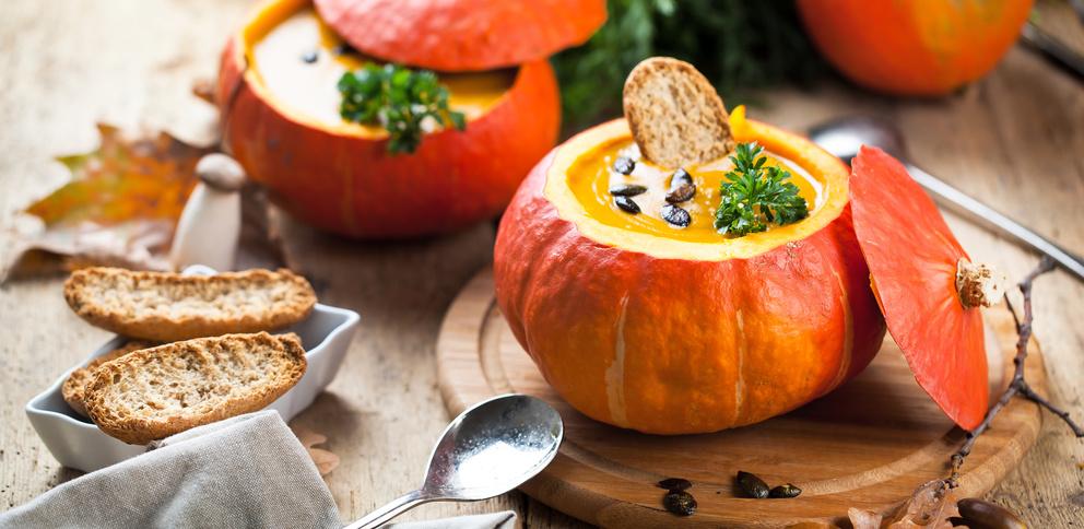 Kein Halloween ohne Kürbissuppe.
